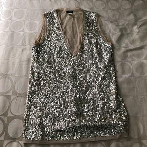 Jcrew Pale blush sequin sweater vest