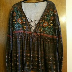 Maurices bohemian top size xl
