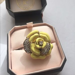 Juicy Couture Jewelry - Juicy Couture yellow enamel petal ring