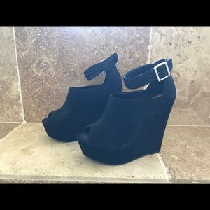 Steve Madden black platform sexy time shoes size 8