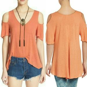 NWT Free People Cold Shoulder Tunic Creamsicle