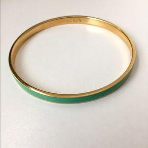 J. Crew Jewelry - J. Crew teal and gold bracelet