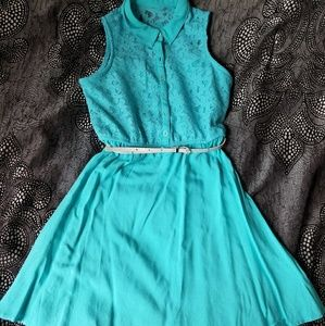 Sally Miller Other - Belted teal dress