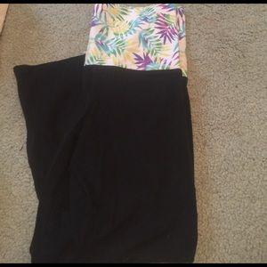 PINK yoga crop pants