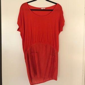 sass & bide Dresses & Skirts - Red Sass & Bide t-shirt dress oversized top
