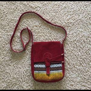 Native suede bag