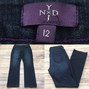 NYDJ Denim - 🎀Sz 12 NYDJ Dark Wash Lift Tuck Straight Jeans