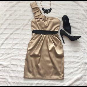 City Studio Dresses & Skirts - Gold One Shoulder Dress