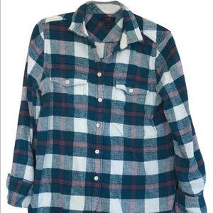 J. Crew Tops - J. Crew Women's Long Sleeve Flannel Shirt