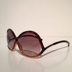 Tom Ford Accessories - Tom Ford Ivanna Brown Oval Sunglasses