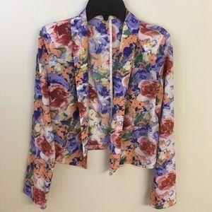 Lush Jackets & Blazers - Lush, floral light weight blazer.