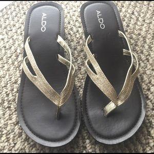 Aldo Shoes - Gold Shimmery Sandals
