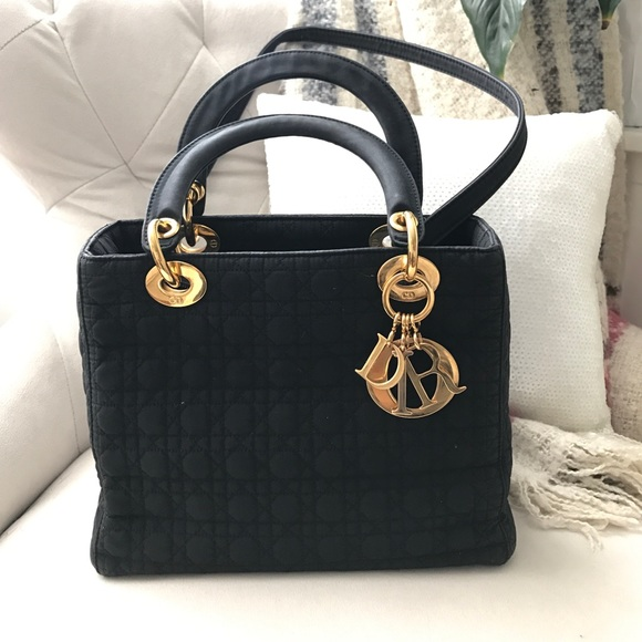 92816a6ca5 Christian Dior Bags | Authentic Vintage Dior Lady Nylon Bag In Black ...