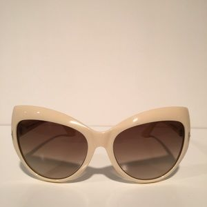 Tom Ford Accessories - Tom Ford Bardot White Cateye Sunglasses