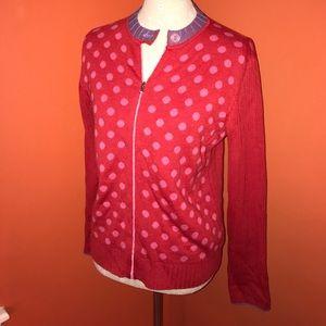 Margaret O'Leary Sweaters - Merino Wool~MARGARET O'LEARY~Polkadot Cardigan M