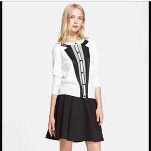 Alice + Olivia Sweaters - Alice + Olivia Tuxedo Wool Cardigan