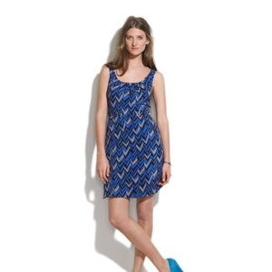 Madewell Dresses & Skirts - Madewell Chevron Twist-back Silk Tank Dress