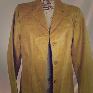 Beautiful John Carlisle Sage/ Moss leather jacket