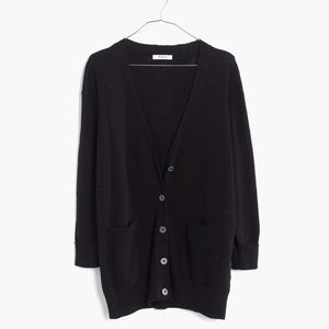 Madewell Sweaters - Madewell Black Lightweight Cardigan Sweater
