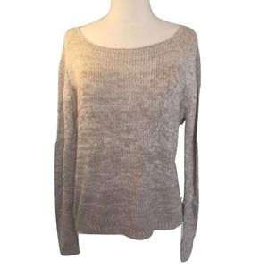 RD Style taupe ombré sheet back high low sweater