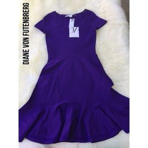 Diane von Furstenberg Dresses & Skirts - St. Petersburg Fit-and-Flare Dress, Acid Grape