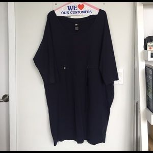 H&M Dresses & Skirts - H&M Navy Cotton Tie-waist Dress