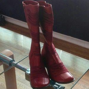 Miz Mooz Shoes - Red Miz Mooz Boots