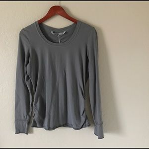 Athleta Grey Long Sleeve - Organic Cotton • Sz: M