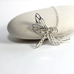 Jewelry - Dragonfly Charm Sterling Silver Necklace