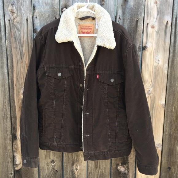 fee5550c111c Levi's Jackets & Coats | Mens Levis Corduroy Sherpa Trucker Jacket ...