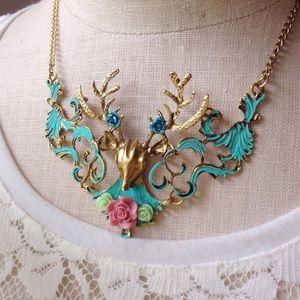 Abbie's ⚓️ Anchor Jewelry - Deer Statement Necklace/Boho Jewelry