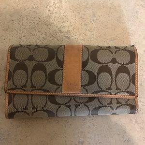Coach Handbags - Authentic Coach Monogram Wallet