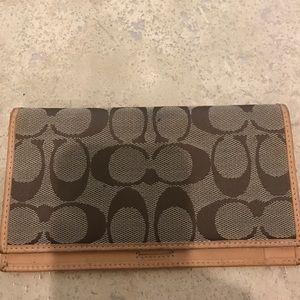 Coach Handbags - Authentic Coach Check Book