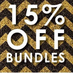  15% off bundles of two items of more! 