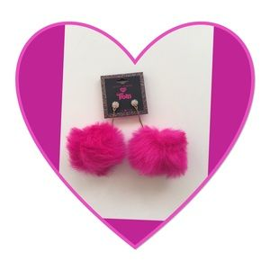 Betsey Johnson Pom Pom Earrings