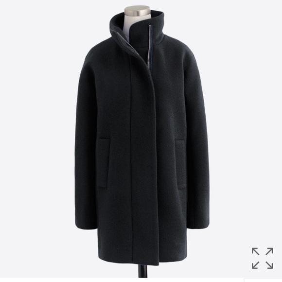 dbf2525e108 J. Crew Factory City Coat Black w/ Gold Zipper