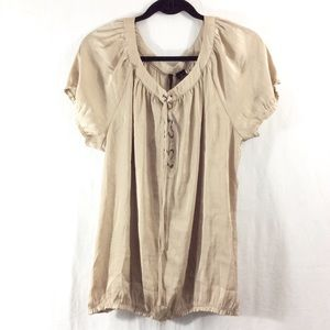 New Directions Tops - New Directions khaki crisscross front blouse