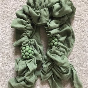Anthropologie Accessories - Anthropologie Green Scrunch Scarf