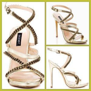 ShoeMint Debs-Gold Metal Heels