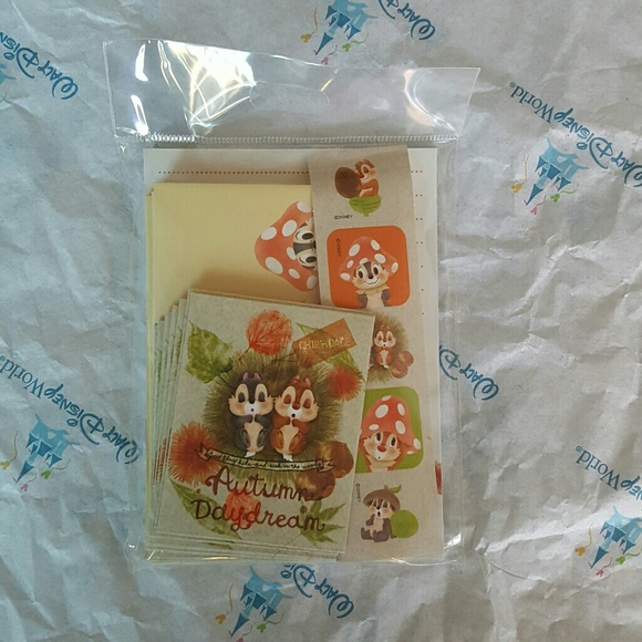Disney Chip and Dale Stationary Letter Set