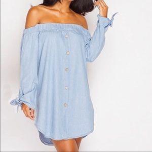 Tops - Cotton open shoulder shirt