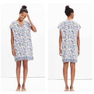 Madewell Silk Tunic Dress in Flora Paisley