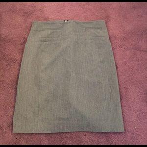Express size 00 grey work skirt