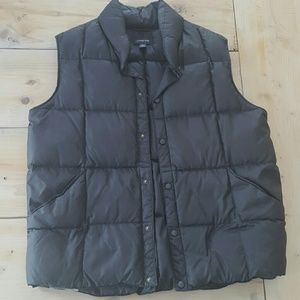 Men's Lands End Black Down Puffy Vest