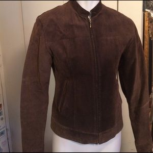 Jackets & Blazers - Brown Real suede little jacket with pockets