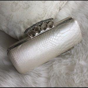 Handbags - Snake Embossed Clutch