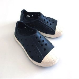 CROCS Other - CROCS black and white rubber Bump It toddler shoes