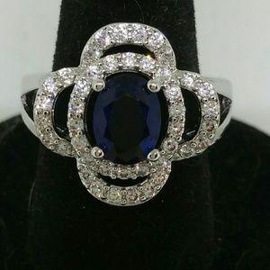 Jewelry - Beautiful Lab Created  Blue Sapphire