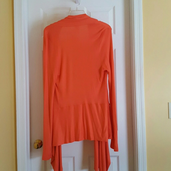 75% off Long Elegant Legs Sweaters - Orange Waterfall Cardigan ...