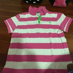 Lilly Pulitzer Tops - Pink and white Lilly Pulitzer polo